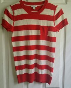 BARELY WORN!! Red and White Striped Top